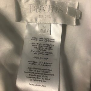 David's Bridal Dresses - Chiffon one shoulder printed floral gown w/ slit
